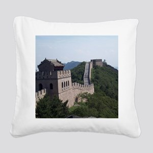 GreatWallOfChinaMousepad Square Canvas Pillow