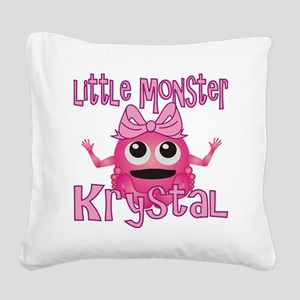 krystal-g-monster Square Canvas Pillow