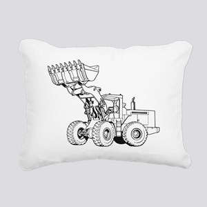 Front End Loader Rectangular Canvas Pillow