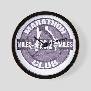 Marathon Club - Purple Wall Clock