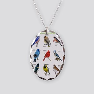 Songbirds of North America Necklace Oval Charm