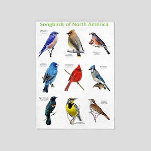 Songbirds of North America 5'x7'Area Rug