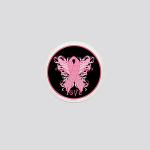 PinkRibLoveWingsBrT Mini Button