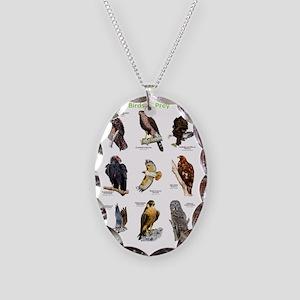 Birds of Prey Necklace Oval Charm