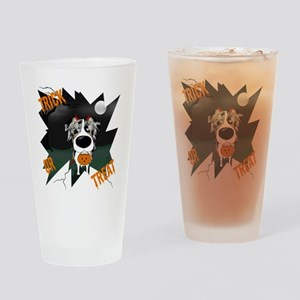 BluMerleAussieHalloweenShirt Drinking Glass