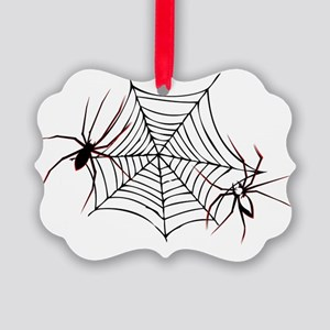 Halloween spiders1 Picture Ornament