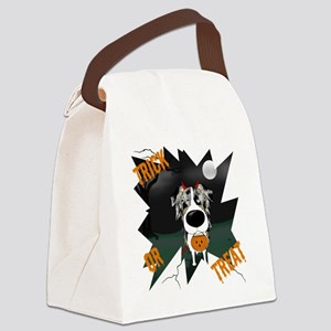 BluMerleAussieHalloweenShirt Canvas Lunch Bag