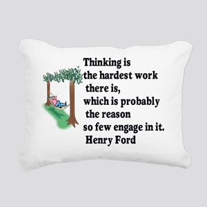 Thinking Rectangular Canvas Pillow
