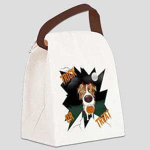 RedMerleAussieHalloweenShirt Canvas Lunch Bag
