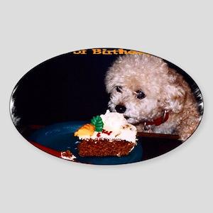 cake card inside Sticker (Oval)