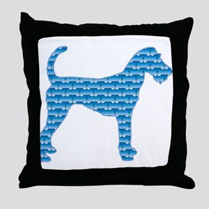 Bone Terrier Throw Pillow