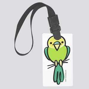 parakeet_green_only Large Luggage Tag