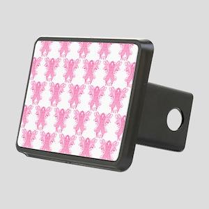 PinkRibbonWingsLoveHtr Rectangular Hitch Cover