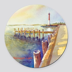 Barnegat LightORN1-BOX Round Car Magnet