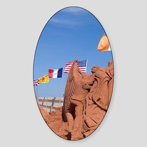 SandLand, Canada's largest sand scu Sticker (Oval)