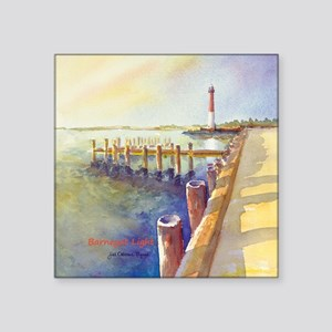 "Barnegat LightORN1-BOX Square Sticker 3"" x 3"""