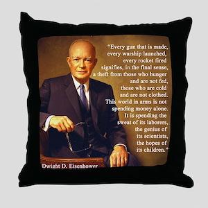 Eisenhower Every Gun 1 Throw Pillow