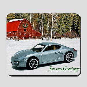 Hot Wheels_Porsche Cayman S_Silver_Wood  Mousepad