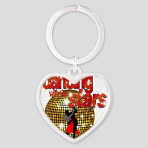 Dancing with the Stars Disco ball D Heart Keychain