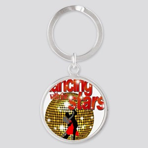 Dancing with the Stars Disco ball D Round Keychain