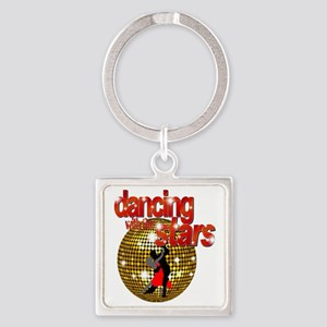 Dancing with the Stars Disco ball  Square Keychain