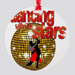 Dancing with the Stars Disco ball D Round Ornament