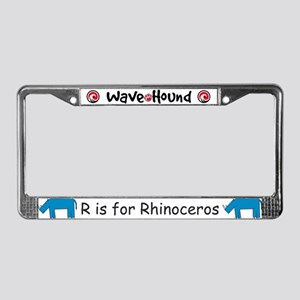R is for Rhino License Plate Frame