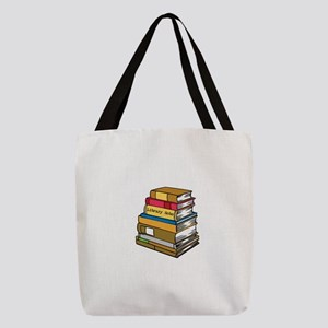 Library Hobo Book Stack Polyester Tote Bag