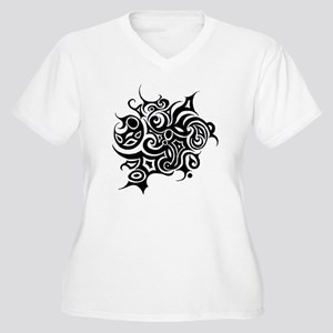abstract 1 Women's Plus Size V-Neck T-Shirt