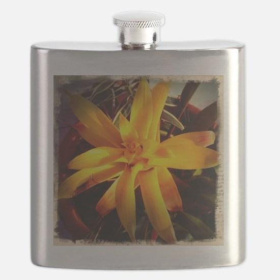 yellow flowers Flask