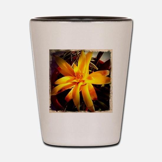 yellow flowers Shot Glass