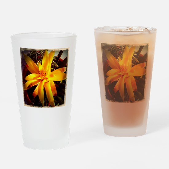 yellow flowers Drinking Glass