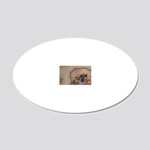Melk. 900 year old baroque M 20x12 Oval Wall Decal
