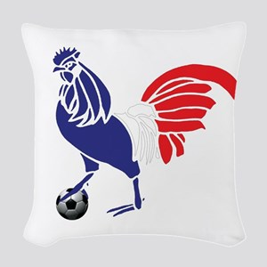 France Le Coq Woven Throw Pillow
