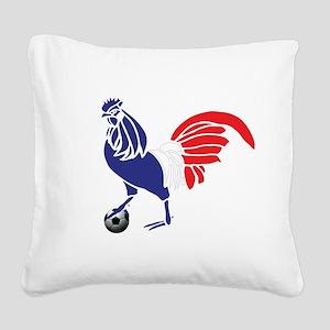 France Le Coq Square Canvas Pillow