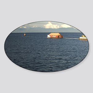 Hauling Timber, Johnstone Strait, B Sticker (Oval)