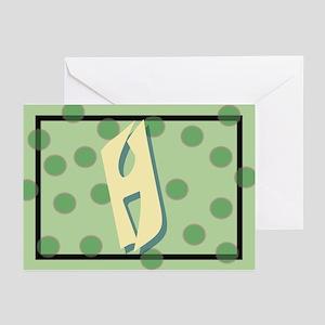 """H"" Pokla-Dot Greeting Cards (Pk of 10)"