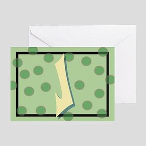 """J"" Pokla-Dot Greeting Cards (Pk of 10)"