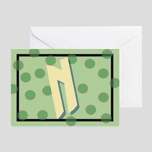"""""""N"""" Pokla-Dot Greeting Cards (Pk of 10)"""
