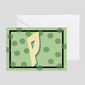 """P"" Pokla-Dot Greeting Cards (Pk of 10)"