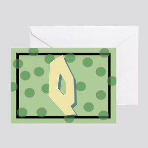 """Q"" Pokla-Dot Greeting Cards (Pk of 10)"