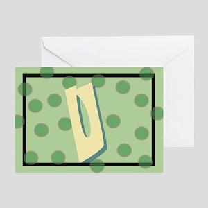 """U"" Pokla-Dot Greeting Cards (Pk of 10)"
