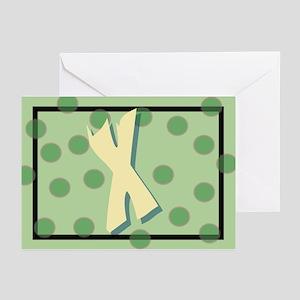 """X"" Pokla-Dot Greeting Cards (Pk of 10)"