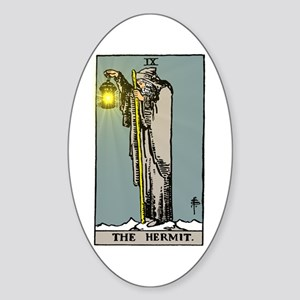 Hermit Tarot Sticker (Oval)