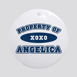 """Property of Angelica"" Ornament (Round)"