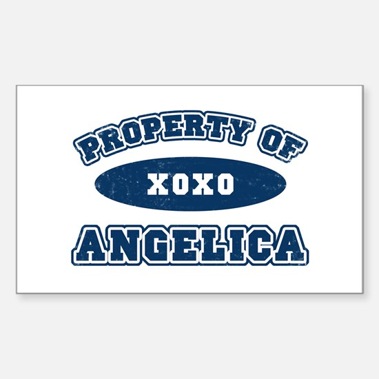 """""""Property of Angelica"""" Rectangle Decal"""