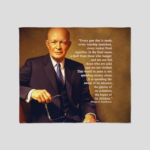 Eisenhower Every Gun round Throw Blanket