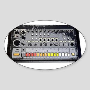808-doodle Sticker (Oval)