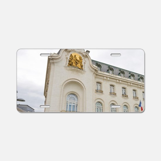 French Embassy building in  Aluminum License Plate
