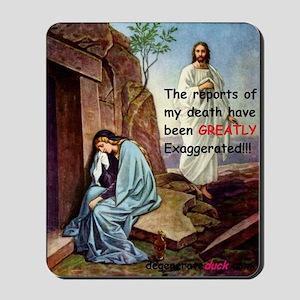 Jesus tomb-d Mousepad
